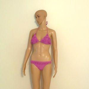 Xhilaration Fuschia Fringe Bikini